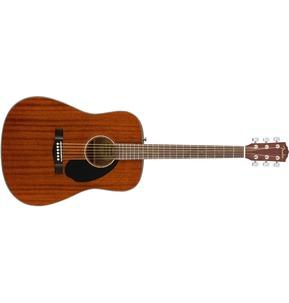 Fender CD-60S All-Mahogany Acoustic Guitar, Natural, Walnut