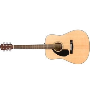 Fender CD-60S Left-Handed Acoustic Guitar, Natural, Walnut