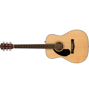 Fender CC-60S Left-Handed Acoustic Guitar, Natural, Walnut