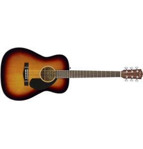 Fender CC-60S Acoustic Guitar, 3-Tone Sunburst, Walnut