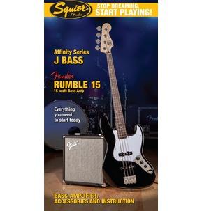 Fender Squier Affinity Jazz Bass & Rumble 15 Amp, Black