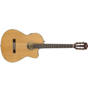 Fender CN-140SCE Electro Classical Nylon Thinline Guitar, Natural w/ Hard Case