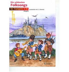 Die Shonsten Folksongs fur Tompete in B