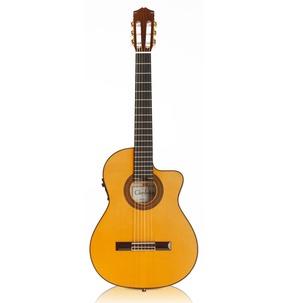Cordoba Espana 55FCE Honey Amber Electro Classical Nylon Guitar & Case