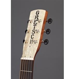 Gretsch G9201 Honey Dipper Round-Neck, Brass Body Biscuit Cone Resonator Guitar