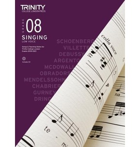 Trinity College London Singing 2018-2021 Grade 8 Low Voice (Book/CD)