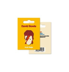 My World: Acrylic Badge - Bowie