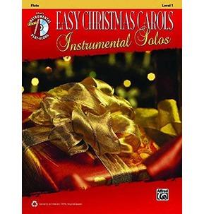 Easy Christmas Carols Instrumental Solos Flute Level 1 (Book/CD)