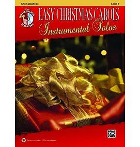 Easy Christmas Carols Instrumental Solos Alto Saxophone (Book/CD)