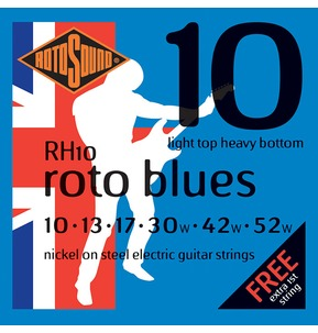 Rotosound RH10 Roto Blues Light Top Heavy Botom 10-52w Electric Guitar Strings
