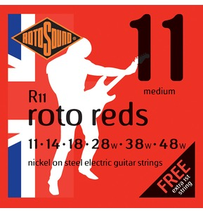 Rotosound R11 Roto Reds Medium 11-48w Electric Guitar Strings