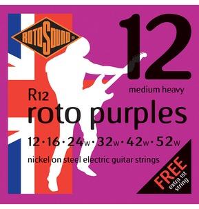 Rotosound R12 Roto Purples Medium Heavy 12-52w Electric Guitar Strings