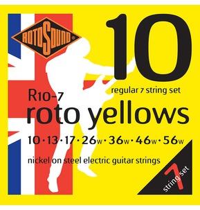 Rotosound R10-7 Roto Yellows Regular 7 String Set 10-56w Electric Guitar Strings