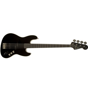 Fender Aerodyne Jazz Bass, Black, Stained Rosewood