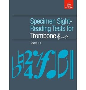 ABRSM Specimen Sight-Reading Tests for Trombone Grades 1-5