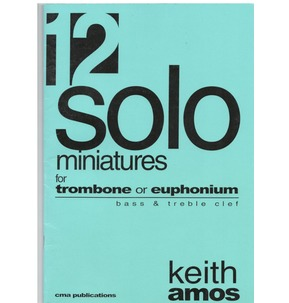 12 Solo Miniatures - Trombone - Treble and Bass - SALE