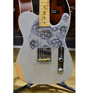 Fender Brad Paisley Road Worn Telecaster, Silver Sparkle, Maple