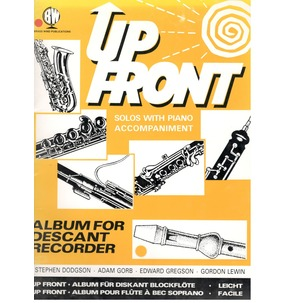 HALF PRICE - Up Front Album For Descant Recorder