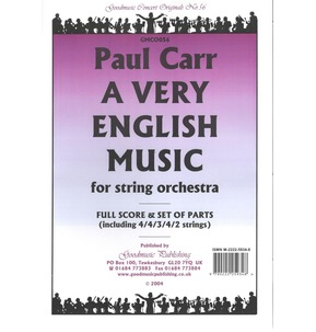 Paul Carr A Very English Music - String Orchestra