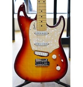 Godin Progression Plus - Cherry Burst Flame HG Maple Electric Guitar & Case