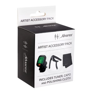 Alvarez AAP1 Artist Accessory Pack - Tuner, Capo & Polishing Cloth