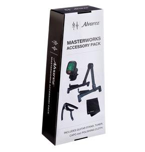 Alvarez AMAP1 Masterworks Accessory Pack - Guitar Stand, Tuner, Capo & Cloth