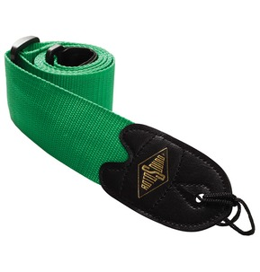 Rotosound STR4 High Quality Strap With Leather Ends - Green
