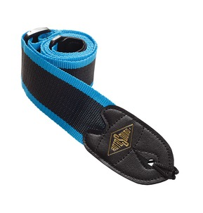 Rotosound STR8 High Quality Strap With Leather Ends - Blue Stripes