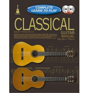 Complete Learn to Play Classical Guitar Manual Book & 2 CDs Beginner to Professional Level