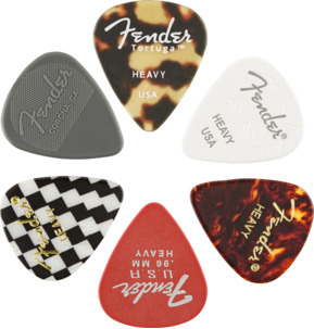 Fender 351 Shape Material Medley Heavy Guitar Pick - Variety Pack of 12