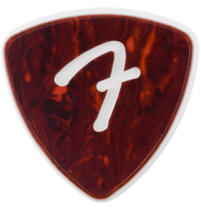 Fender 346 Shape F-Grip Celluloid Tortoise Shell 1.50mm Guitar Pick - Pack of 3