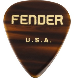 Fender 351 Shape Chugg Cellulose Acetate Tortoise Shell 1.5mm Extra Heavy Guitar Pick - Pack Of 6