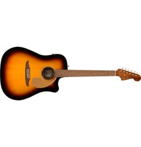 Fender Redondo Player Electro Acoustic Guitar, Sunburst, Walnut