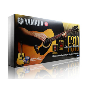 Yamaha F310 Acoustic Guitar Package - Natural