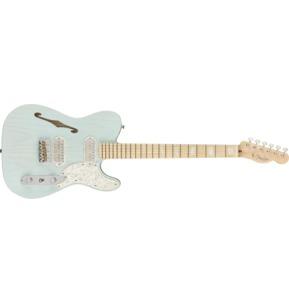 Fender Parallel Universe II Tele Mágico, Transparent Daphne Blue, Maple & Case