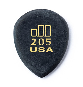 Dunlop Jazztone 205 Polycarbonate Point Tip 2.00mm Guitar Pick - Pack of 6