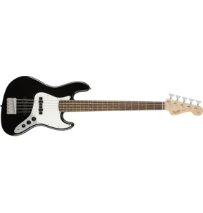 Fender Squier Affinity Series Jazz Bass V, Black, Laurel