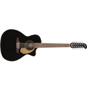 Fender California Villager Black 12-String Electro Acoustic Guitar & Case