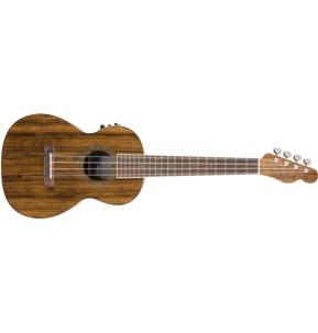 Fender Rincon Tenor Electro Ukulele, Natural & Case