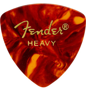 Fender 346 Shape Classic Celluloid Tortoise Shell Heavy Guitar Pick - Pack of 12