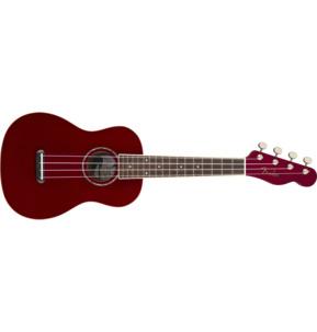 Fender Zuma Classic Concert Ukulele, Candy Apple Red, Walnut