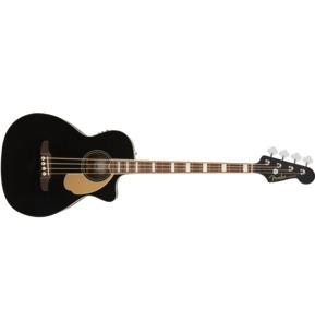 Fender Kingman Electro Acoustic Bass Guitar, Black, Walnut