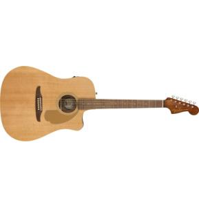 Fender Redondo Player Electro Acoustic Guitar, Natural, Walnut