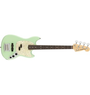 Fender American Performer Mustang Bass, Satin Surf Green, Rosewood