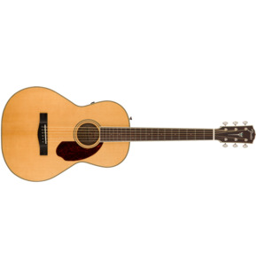 Fender Paramount PM-2 Standard Parlour Natural All Solid Electro Acoustic Guitar & Case