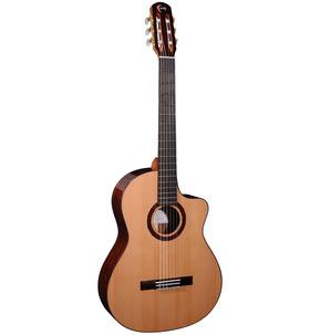 Faith HiGloss Lyra All Solid Electro Nylon Guitar & Case
