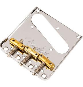 Fender 3-Saddle Telecaster Bridge With Compensated Brass Bullet Saddles