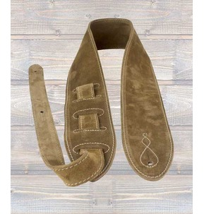 Leathergraft 'The Comfy' Suede Guitar Strap, Beige - Made In England