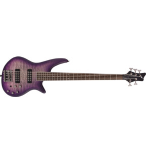 Jackson JS Series Spectra JS3QV Purple Phaze 5-String Electric Bass Guitar