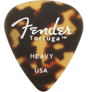 Fender 351 Shape Tortuga Ultem Tortoise Shell Heavy Guitar Pick - Pack of 6